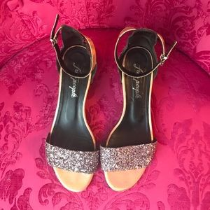 Free People Glitter Heels